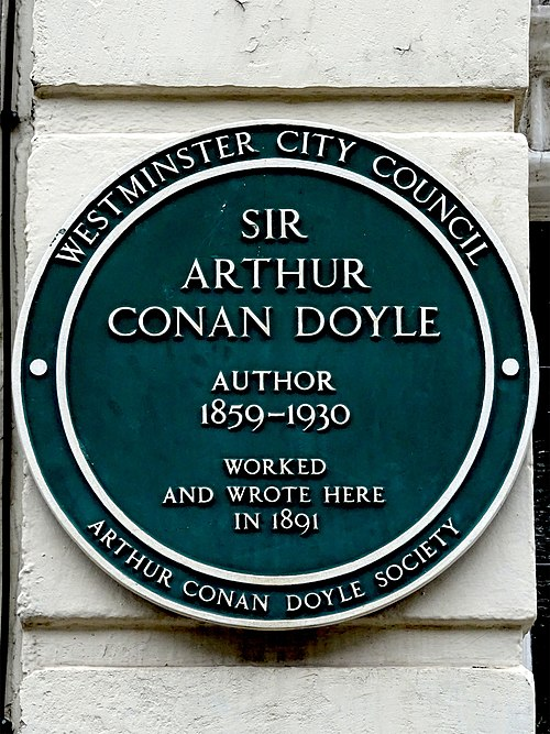 Sir arthur conan doyle author 1859 1930 worked and wrote here in 1891