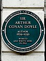 Sir Arthur Conan Doyle author 1859-1930 worked and wrote here in 1891.jpg