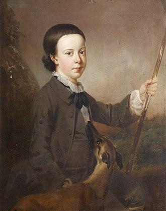 Sir Thomas Dyke Acland, 9th Baronet - Acland as a boy, portrait by Richard Phelps