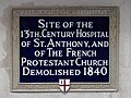 Site of the 13th century Hospital of St. Anthony and of the French Protestant Church demolished 1840.jpg