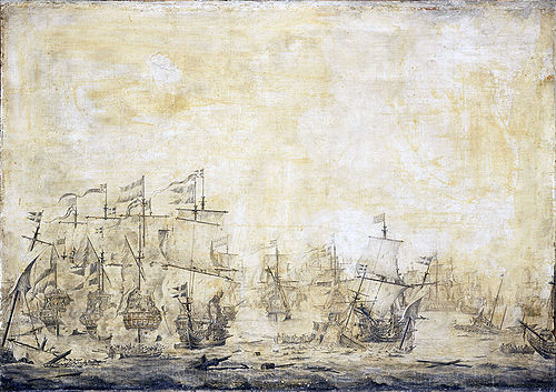 Slag in de Sont - Battle of the Sound, November 8 1658-3 (Willem van de Velde I, 1693).jpg