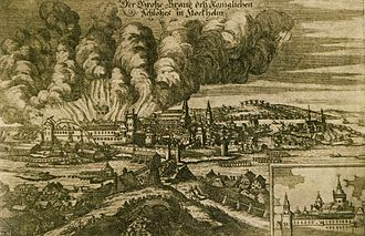 Historical fires of Stockholm - Palace fire in 1697