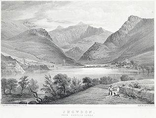Snowdon from Nantlle lakes