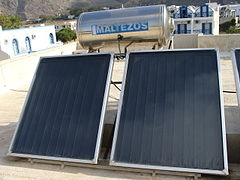 Solar thermal system for water heating