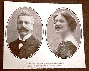 Solomiya Krushelnytska - Solomiya Krushelnytska and her husband, Cesare Riccioni