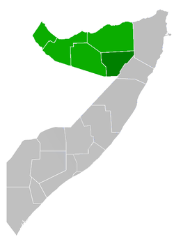 Location in Somalia.