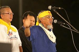 People's Alliance for Democracy - Sondhi Limthongkul (left), Somsak Kosaisuuk (right)