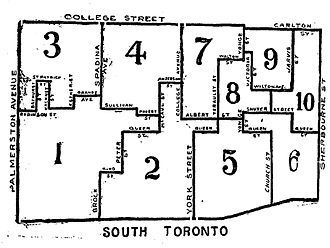 Toronto South (provincial electoral district) - Toronto South riding, created in 1894