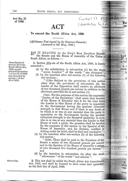 File:South Africa Act Amendment Act 1946.djvu