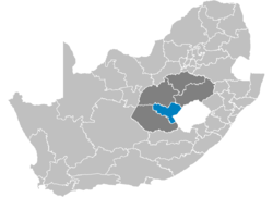 Ligging Motheo District Municipality