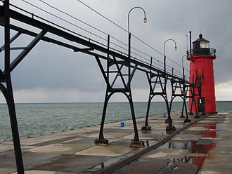 Kalamazoo–Portage metropolitan area - South Haven lighthouse.