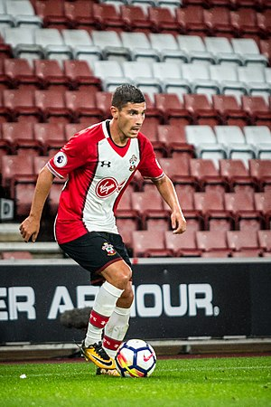 Jérémy Pied - Pied playing for Southampton in 2017