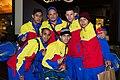 Special Olympics World Winter Games 2017 arrivals Vienna - Venezuela floorball team.jpg