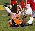 Spieler der Union Geretsberg Nachwuchs von Österreich auf dem Boden - 20091003.jpg
