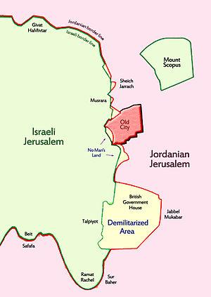 City Line (Jerusalem) - 1948-1967 City Line