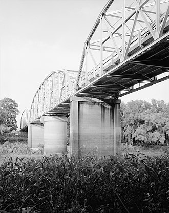 Madison, Arkansas - The St. Francis River Bridge near Madison is listed on the National Register of Historic Places