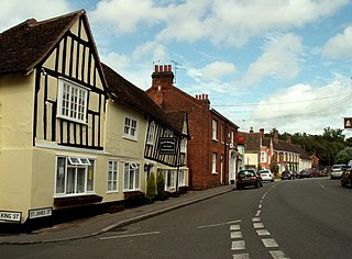 Castle Hedingham village in the United Kingdom