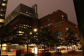 English: St. Michael's Hospital in Toronto, On...