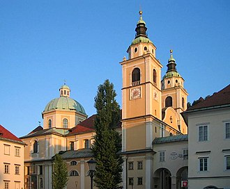 Ljubljana Cathedral - Cathedral viewed from the north (Pogačar Square)