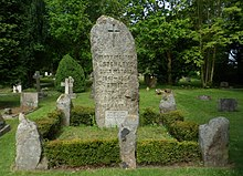 St Michael and All Angels Church, Church Lane, Pirbright (May 2014) (Henry Morton Stanley Grave).JPG