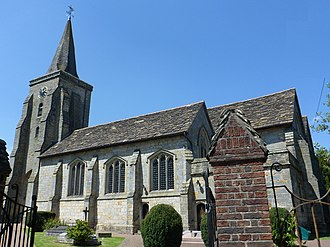 1430s in architecture - Image: St Peter and St Paul's Collegiate Church, Vicarage Road, Lingfield (NHLE Code 1029906)