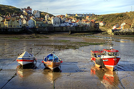 Staithes UK - low tide