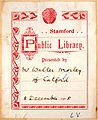 Stamford Public Library bookplate - donation from Walter Morley.jpg