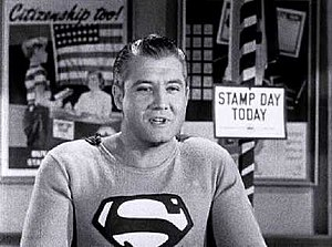 English: Screen capture of actor George Reeves...