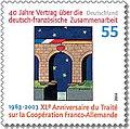 Stamp Germany 2003 MiNr2311 Vertrag über die deutsch-französische Zusammenarbeit.jpg