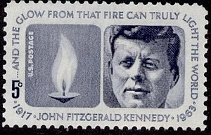 Five cents John Kennedy - Image: Stamp US 1964 5c Kennedy