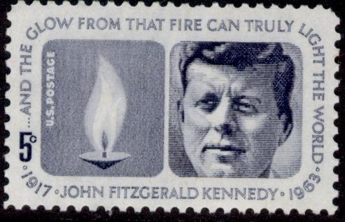 Stamp US 1964 5c Kennedy