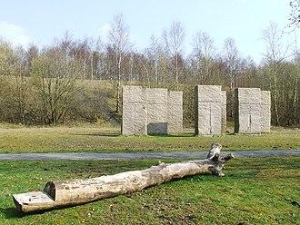 "Metropolitan Borough of Bury - Ruckriem's ""Standing Stones"" sculpture at Outwood"