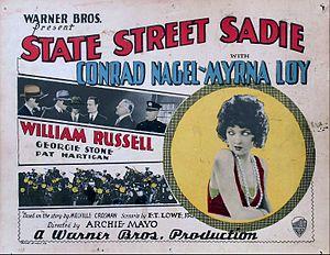 State Street Sadie - lobby card. lost film.