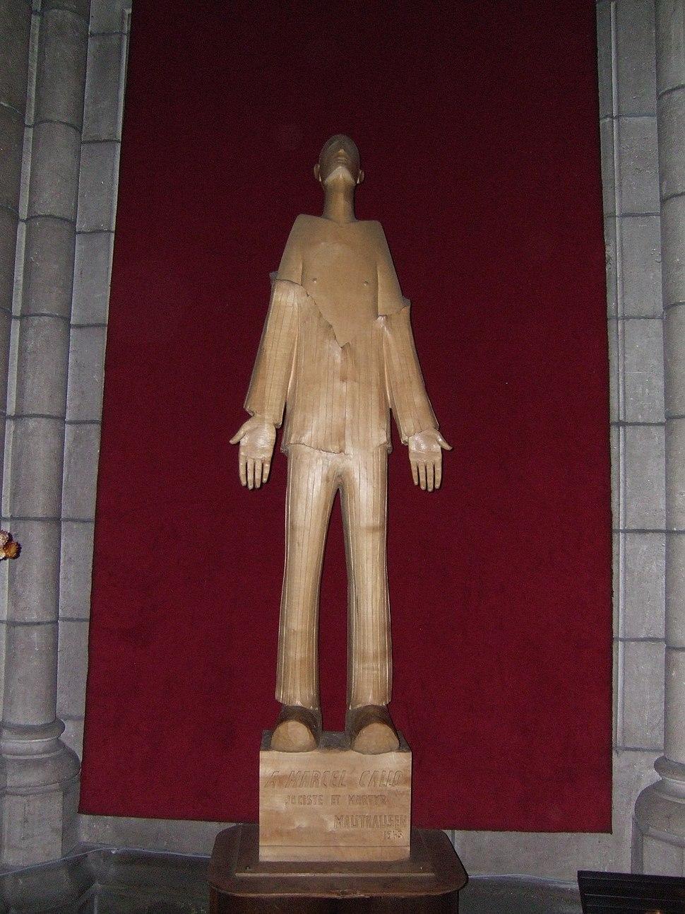 Statue de Marcel Callo en l%27%C3%A9glise Saint Aubin de Rennes