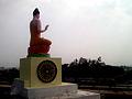 Statue of Buddha at Dammagiri in Duvvada 04.jpg