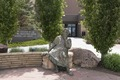 Statue of Socrates outside the College of Law building and George W. Hopper Law Library at the University of Wyoming in Laramie, Wyoming LCCN2015632805.tif