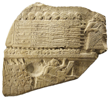 Phalanx battle formations led by Sumerian king Eannatum, on a fragment of the Stele of the Vultures Stele of Vultures detail 01-transparent.png