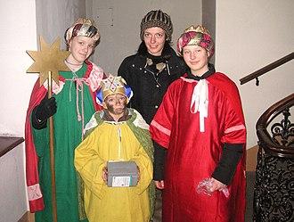 Katholische Jungschar - Star singers in Vienna, Austria.
