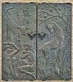 Stiens - deuren gemeentehuis (1965) van Wladimir de Vries.jpg