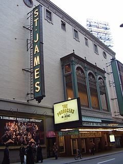 St. James Theatre Broadway theatre in Manhattan, New York City, United States