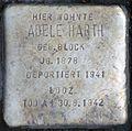 Stolperstein-Harth Adele geb. Block-koeln-cc-by-denis-apel.jpg