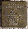 Stolperstein Arnstadt Karl-Marien-Straße 11-Susmann Siegmund Katz.JPG