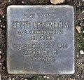 Stolperstein Landshuter Str 8 (Schön) Edith Oppenheim.jpg