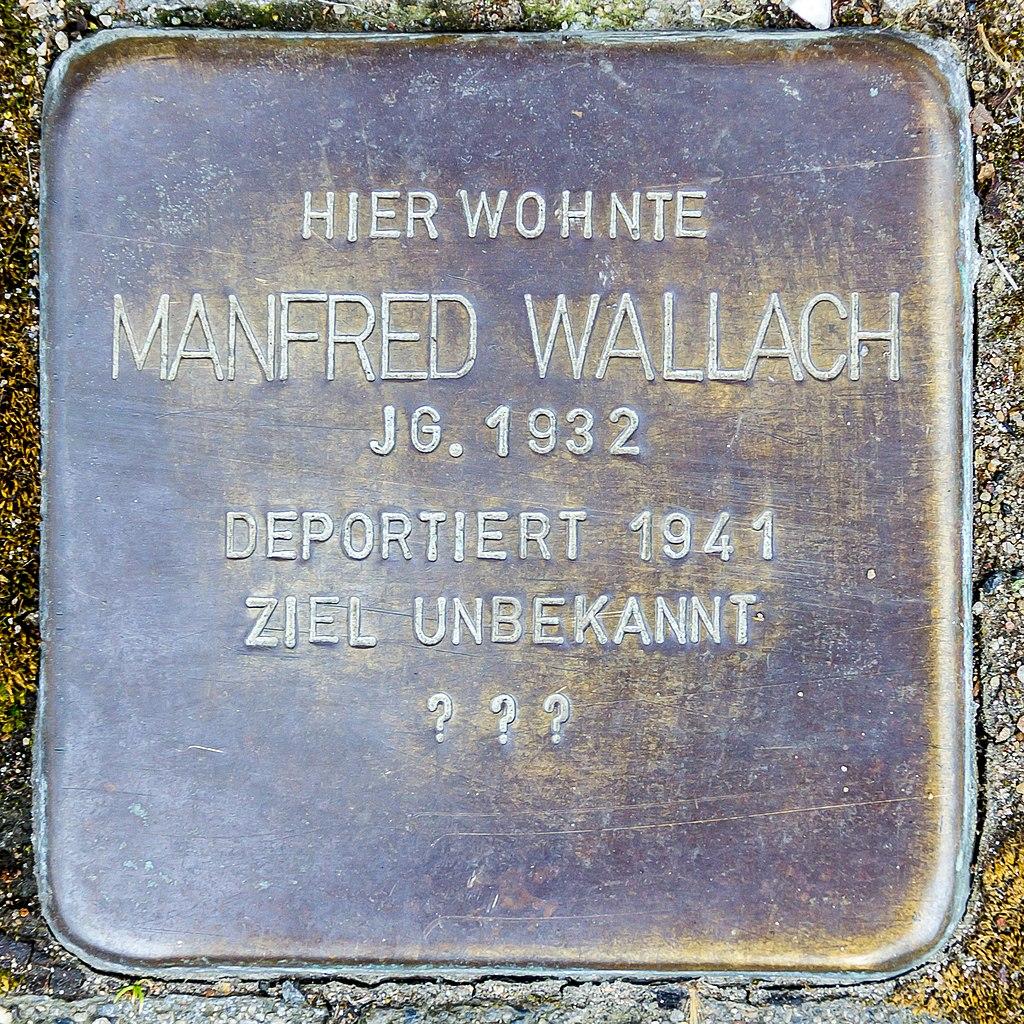 Stolperstein Manfred Wallach