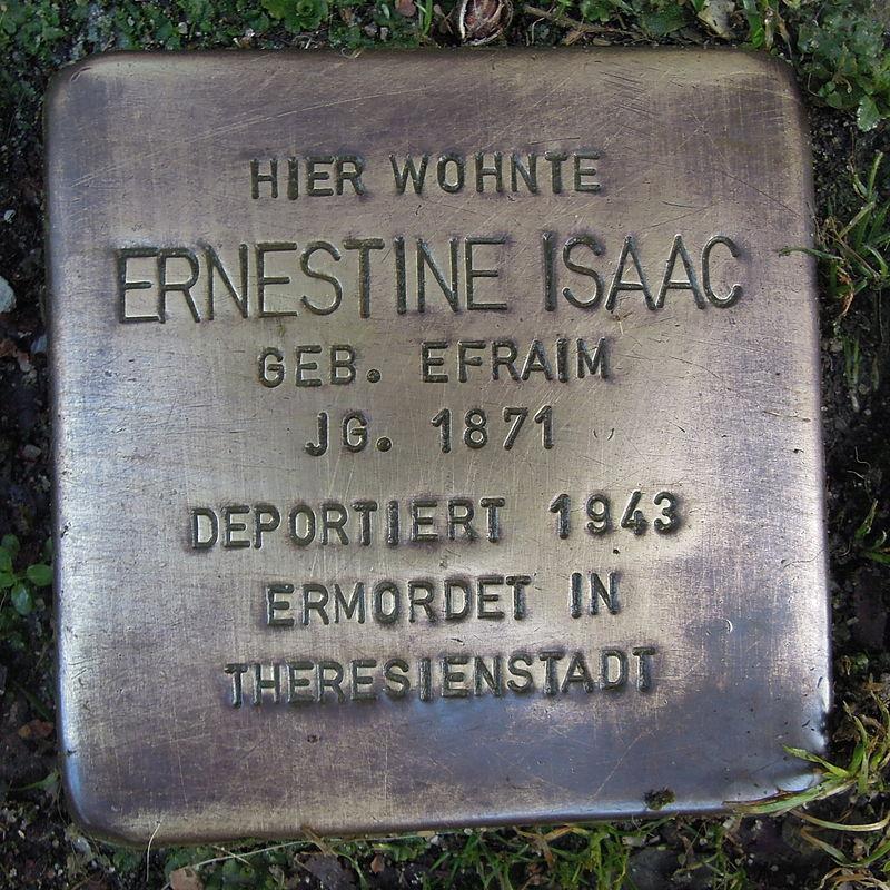 Stolperstein für Ernestine Isaac geb. Efraim