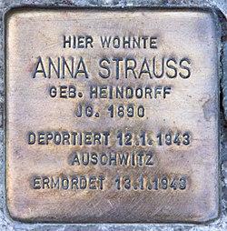 Photo of Anna Strauß brass plaque
