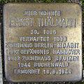 Stolperstein Tarpenbekstraße 66 (Ernst Thälmann) in Hamburg-Eppendorf.JPG