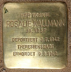 Photo of Rosalie Kallmann brass plaque