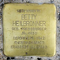 Stolperstein für Betty Heilbronner (1850) in Memmingen.jpg