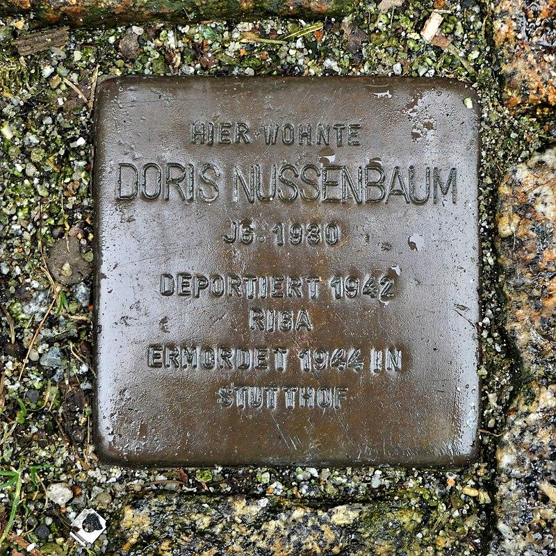 Stolperstein für Doris Nussenbaum, Siebergasse 2, Bautzen.JPG